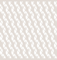 Subtle white and beige seamless ropes pattern vector