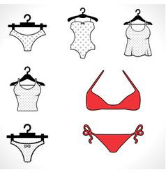 Swimsuits or bikini icon vector