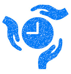 Time care hands grunge icon vector