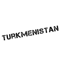Turkmenistan rubber stamp vector image