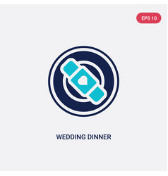 two color wedding dinner icon from birthday party vector image