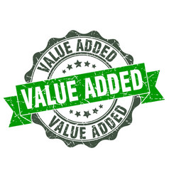 Value added stamp sign seal vector