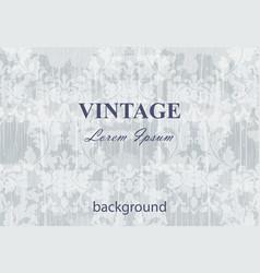 Vintage baroque background pattern background vector