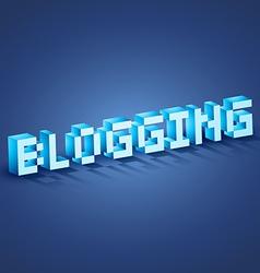 Web blogging vector