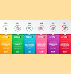 Writer journey path and brandy bottle icons set vector