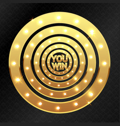 you win and golden circles vector image
