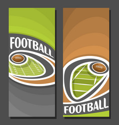 banners for american football vector image vector image