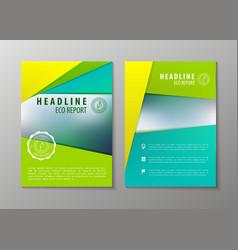 Corporate brochure flyer design layout vector