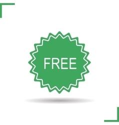 Free badge icon vector image