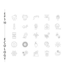 green ecology and environment icon set in format vector image vector image