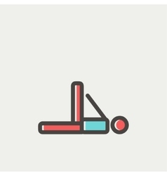 Man in fitness and exercise thin line icon vector image