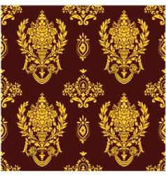 rose leaf pattern vector image vector image