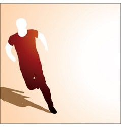 runing man vector image