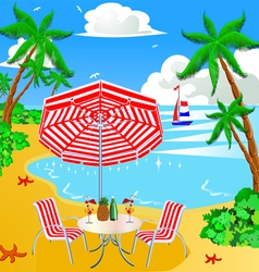 Beach Vacation Background vector image