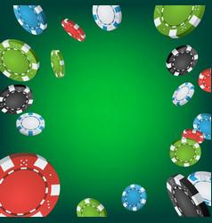 casino winner background falling explosion vector image vector image