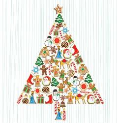 cookie christmas tree vector image