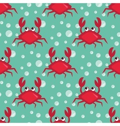 Funny crabs pattern vector image vector image