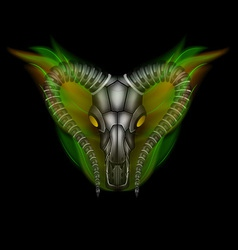 Goat head in fire vector image