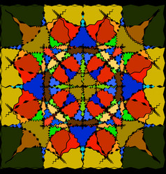 pattern for glass in color vector image