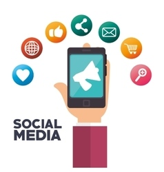 social media isolated icon design vector image vector image