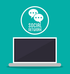 social network computer message texting bubble vector image vector image