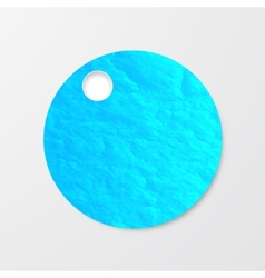 watercolor circle Vintage paper texture vector image vector image