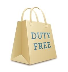 Duty free shopping bag vector image