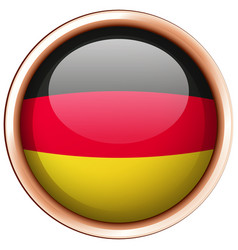 flag of germany on round frame vector image