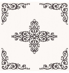 floral border and ornaments vector image vector image