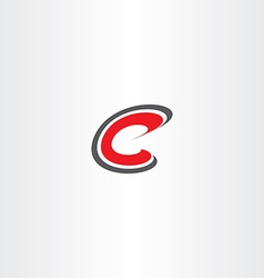 letter c red sign symbol icon logotype vector image vector image