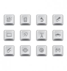 media keys vector image vector image
