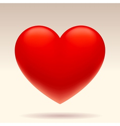 Three dimensional red heart vector