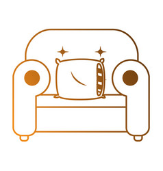 comfortable sofa with pillow vector image vector image