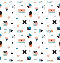 Cute Trandy Seamless Pattern vector image