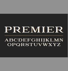 modern serif typeface design font vector image