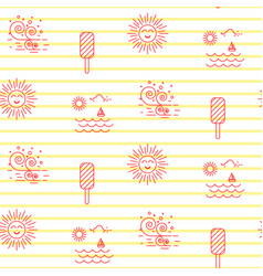 summer beach line striped icon seamless vector image