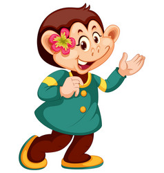 a cute monkey character vector image
