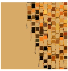 Abstract fragmented backdrop pattern orange beige vector
