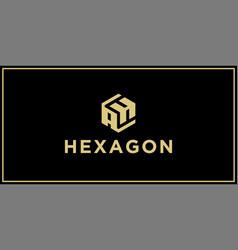 Ah hexagon logo vector