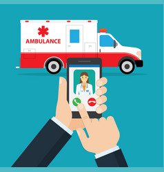 Application to call ambulance vector