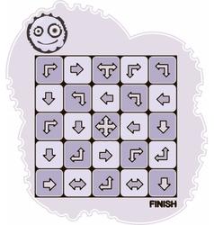 Arrow maze vector