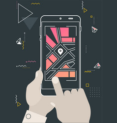augmented reality navigation and travel mobile app vector image
