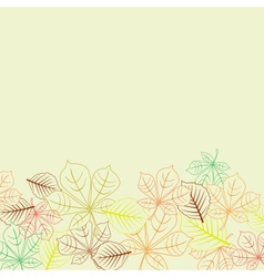 Autumnal background with leaves shapes vector image