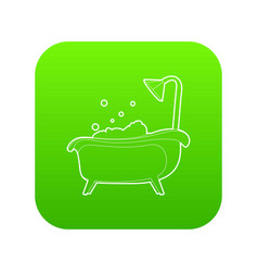 bath icon green vector image