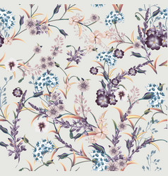 beautiful soft vintage pattern in classic style vector image