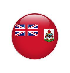 bermuda flag on button vector image