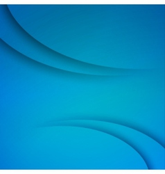 Blue Abstract background with curves lines vector image