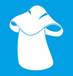 Boletus icon white vector