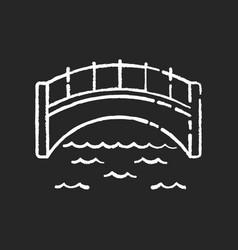 bridge chalk white icon on black background vector image