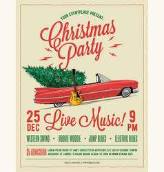 christmas party flyer or poster template vector image